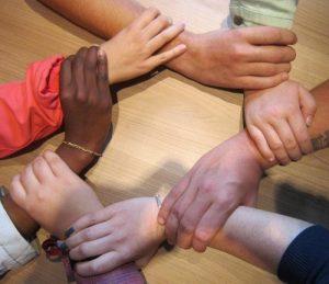 hands holding hands